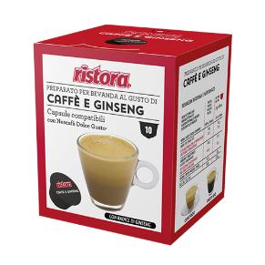 Immagine di 10 Capsule Compatibili Dolce Gusto Ristora Caffe' E Ginseng