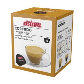 Immagine di 10 Capsule Compatibili Dolce Gusto Ristora Cortado Caffe' Macchiato