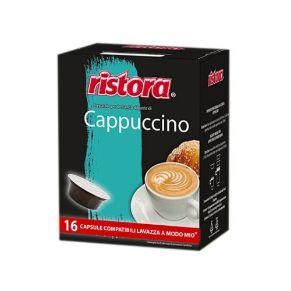 Immagine di 16 Capsule Compatibili A Modo Mio Ristora Cappuccino