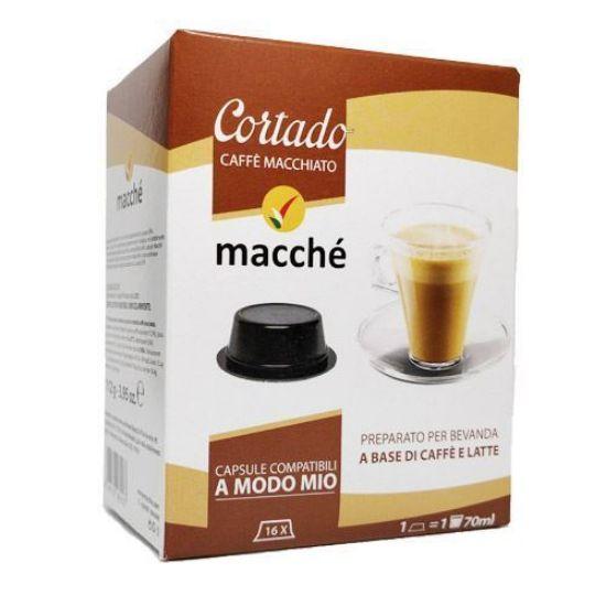 Cortado, Caffè Macchiato in Capsule Compatibili Lavazza A Modo Mio