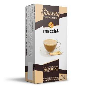 10 capsule Macché Caffè Ginseng Compatibili Nespresso
