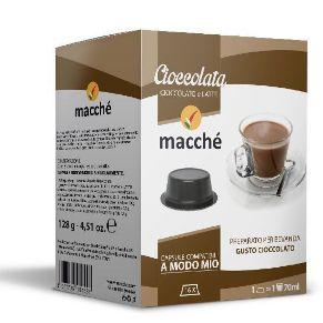 16 capsule Macché Cioccolata Compatibili Lavazza A Modo Mio