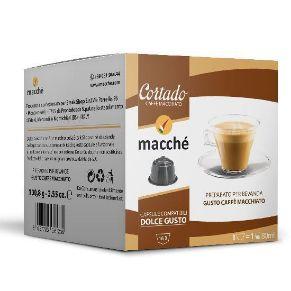 16 capsule Macché Cortado Caffè Macchiato Compatibili Nescafé Dolce Gusto