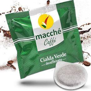 Cialde 44mm Macché Caffè Verde Miscela Decaffeinato Deca Dek