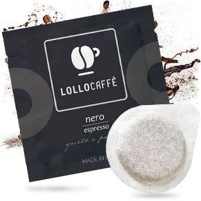100 Cialde Lollo Caffè Miscela Nera Nero Espresso