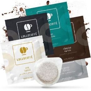 Kit Personalizzato 300 Cialde Lollo Caffè in filtro Carta 44mm